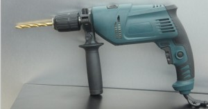 impact drill in blue color